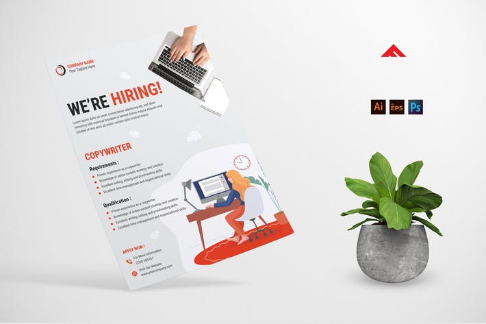 Thumbnail for Copywriter Job Hiring Advertisement