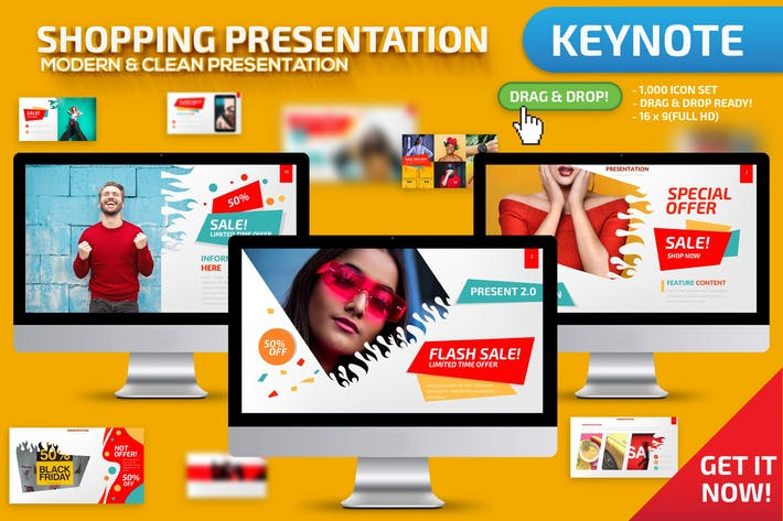 Shopping Keynote Presentation Template