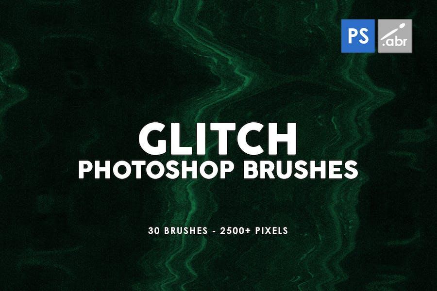 30 Glitch Photoshop Stamp Brushes
