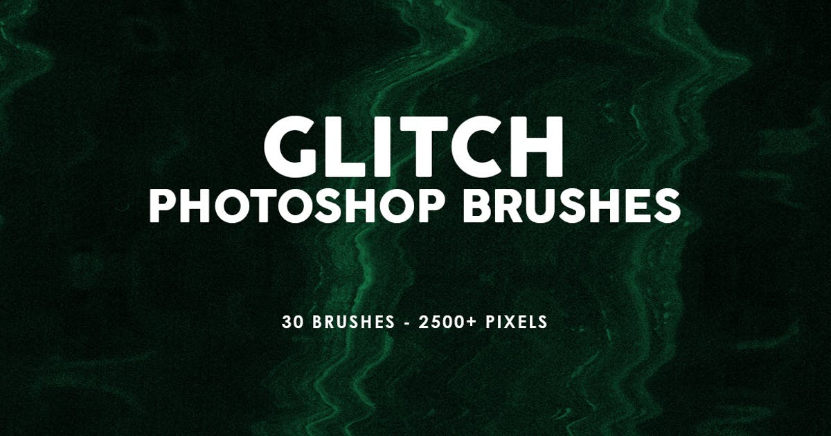 Download 30 Glitch Photoshop Stamp Brushes by M-e-f