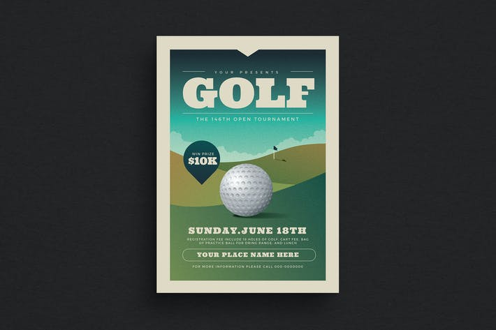 Thumbnail for Golf Tournament Event Flyer