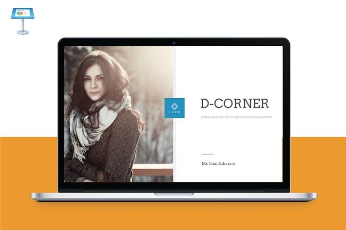 Cover Image For D CORNER - Multipurpose Keynote Template V8
