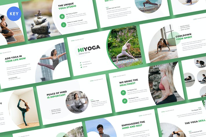 Thumbnail for Hiyoga Yoga Class Keynote Template