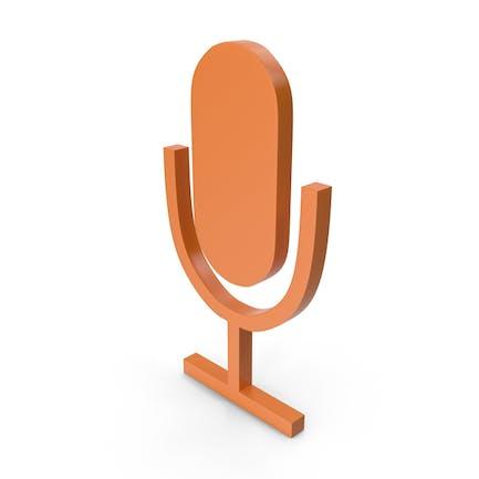 Microphone Orange Icon