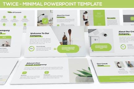 Twice - Minimal & Simple Powerpoint Template