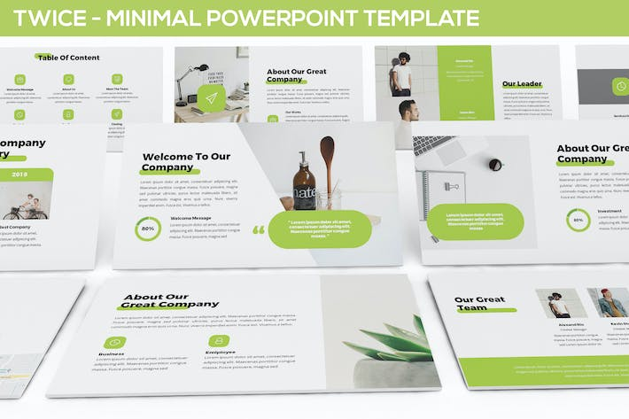 Thumbnail for Twice - Minimal & Simple Powerpoint Template