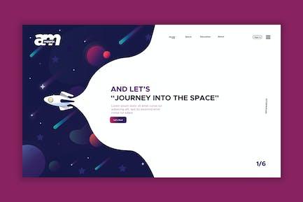 Space - Web Header & Landing Page