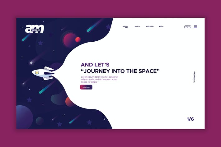 Thumbnail for Space - Web Header & Landing Page