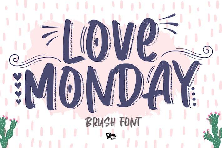 Thumbnail for Love Monday - Pincel Font