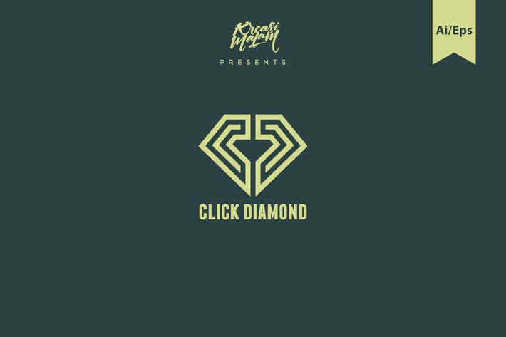 Thumbnail for Click Diamond Logo Template