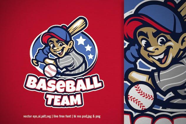 cartoon baseball logo for your team