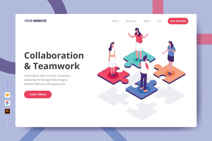 Thumbnail for Collaboration & Teamwork - Landing Page