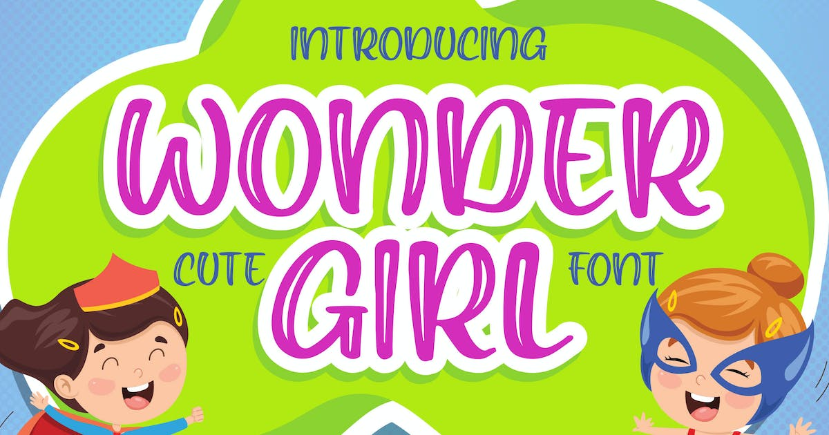 Download Wonder Girl -  Cute Font by Blankids