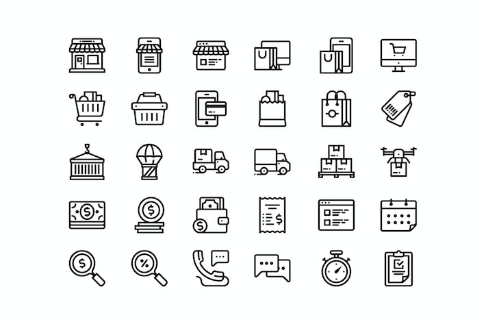 Thumbnail for 30 Shop and Delivery icons