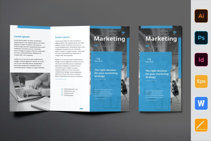 Thumbnail for Marketing Firm Brochure Trifold