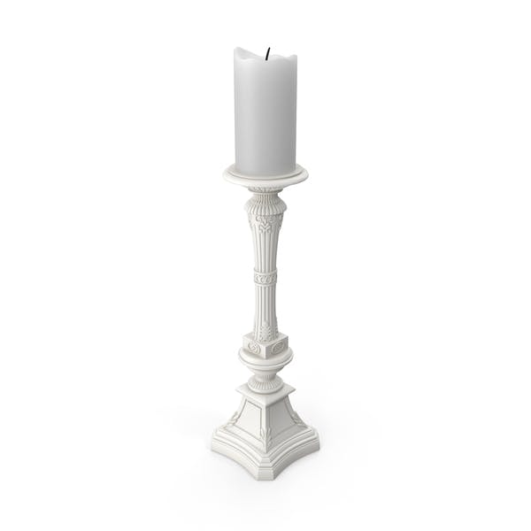 Cover Image for White Baroque Candle Holder