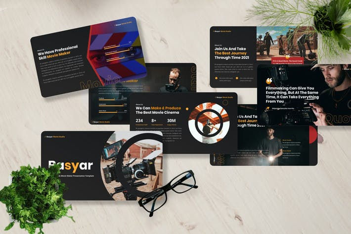 Basyar - Movie Studio Powerpoint Template