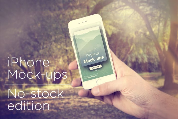 Thumbnail for iPhone Mock-ups - No-stock edition
