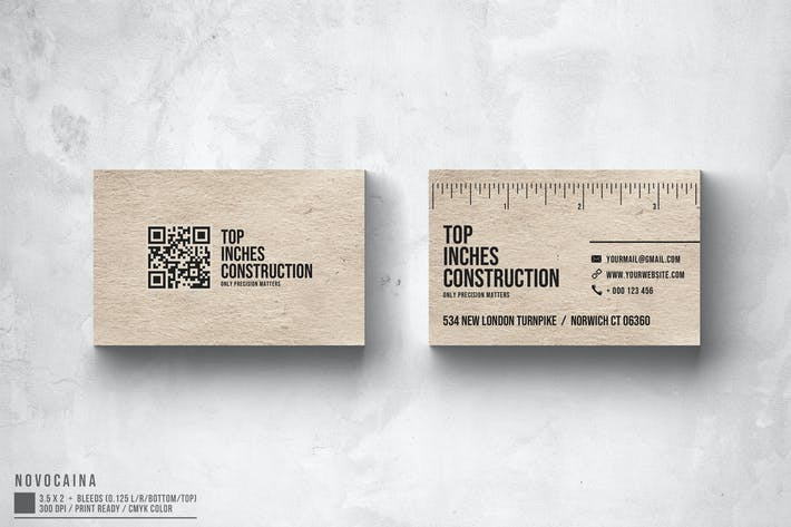 Cover Image For Inches Business Card Design