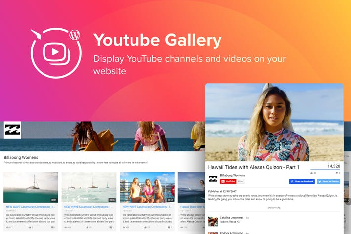 Thumbnail for WordPress YouTube Gallery Plugin