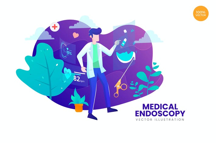 Thumbnail for Medical Endoscopy Vector Illustration Concept