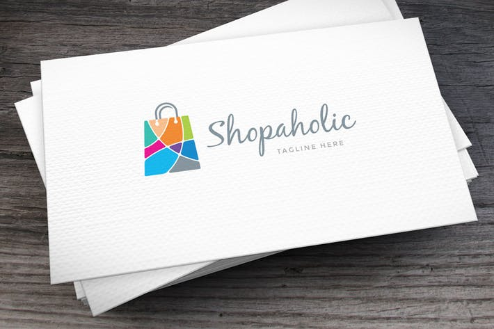 Thumbnail for Shopaholic Logo Template