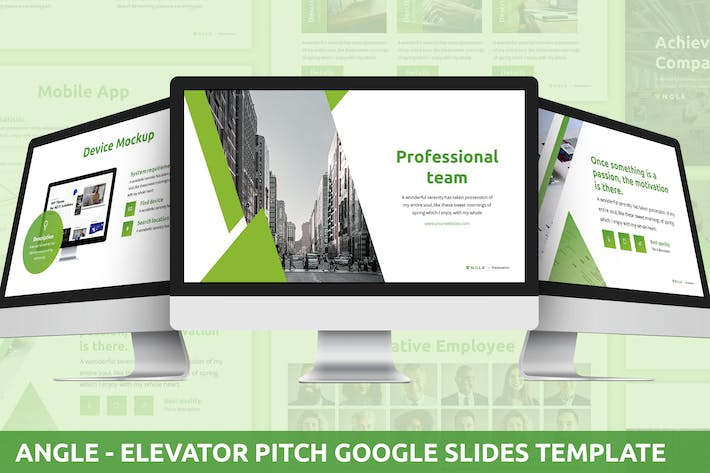 Thumbnail for Angle - Elevator Pitch Google Slides Template