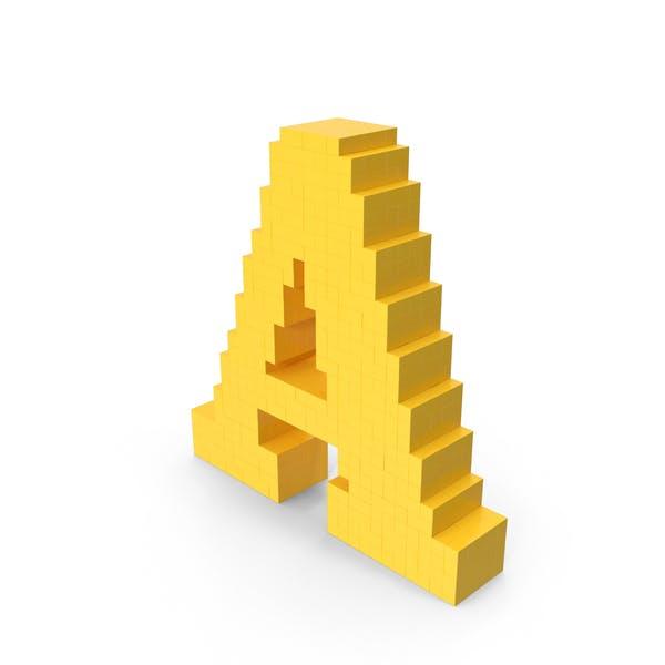 Воксельная буква A