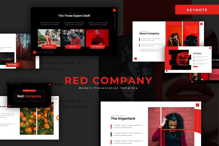 Red Company - Keynote Template