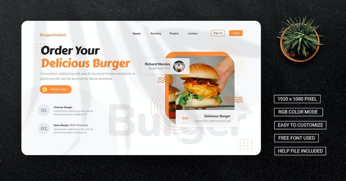 Download Burgerinstant - Landing Page by esensifiksi