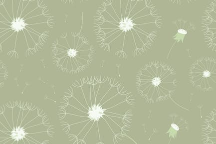 Nahtloses Vintage-Pusteblume Muster