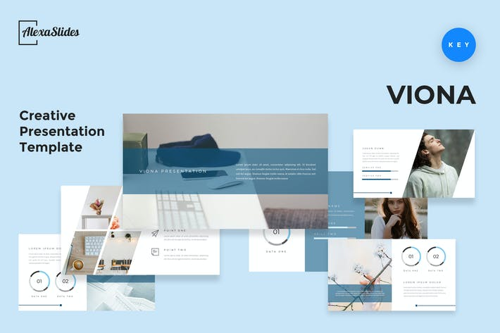 Thumbnail for Viona - Creative Keynote Presentation Template