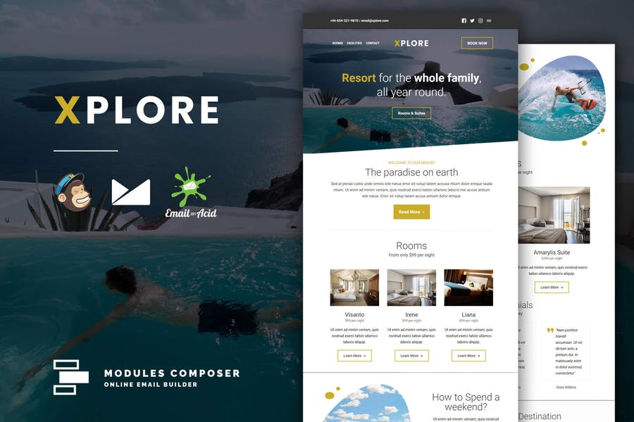 XPLORE - Book & Travel Responsive Email