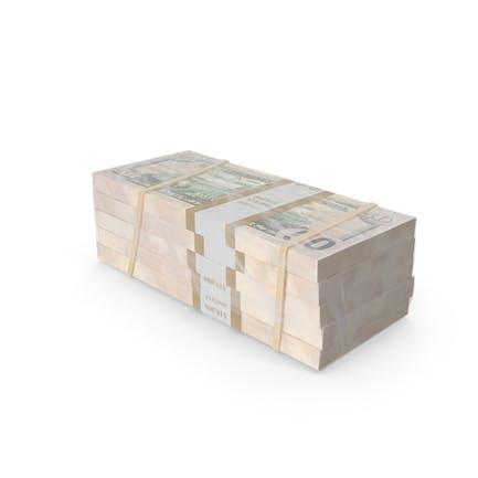 Eingewickelter Stapel von Dollarscheine