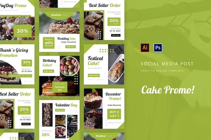 Thumbnail for Cake Promo Instagram Post