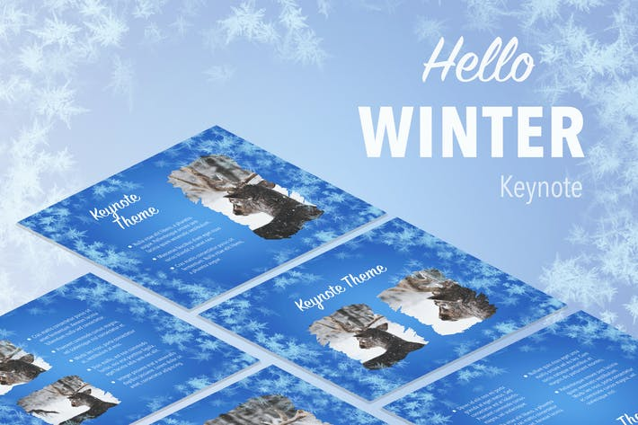 Cover Image For Hello Winter Keynote Template