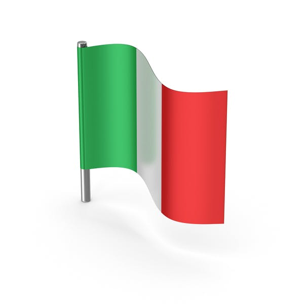 Italy Cartoon Flag