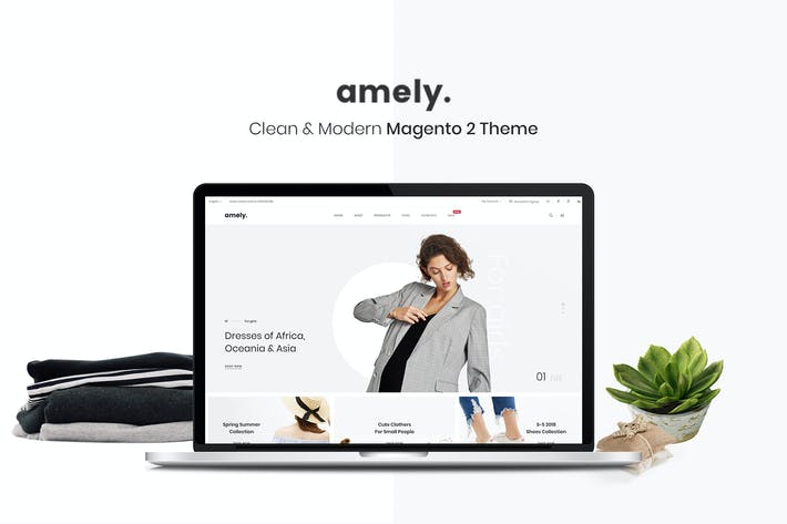 Thumbnail for Amely - Clean & Modern Magento 2 Theme
