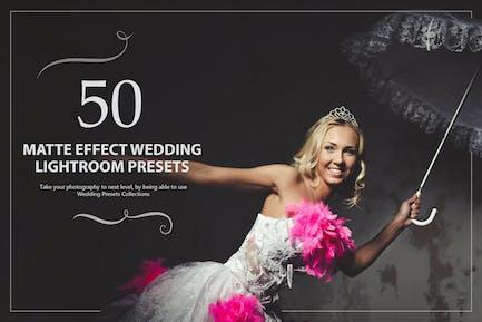 50 Matte Effect Wedding Lightroom Presets