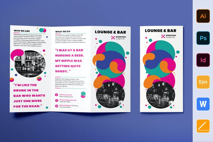 Thumbnail for Lounge Bar Brochure Trifold