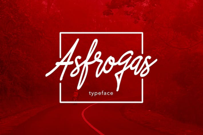 Thumbnail for Asfrogas Typeface