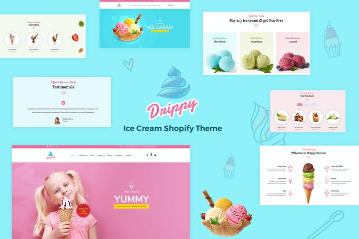 Thumbnail for Drippy - Responsive IceCream Shopify Tema