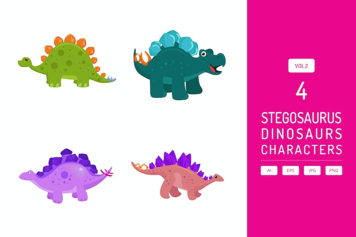 Thumbnail for Cute Stegosaurus - Dinosaurs Character Vol.2