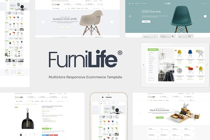 Thumbnail for Furnilife - Decorations & Supplies Magento Theme
