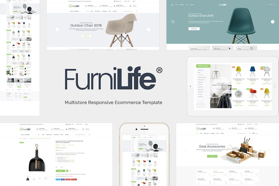Furnilife - Decorations & Supplies Magento Theme