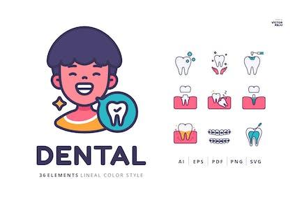 36 Dental of Illustrations Pack