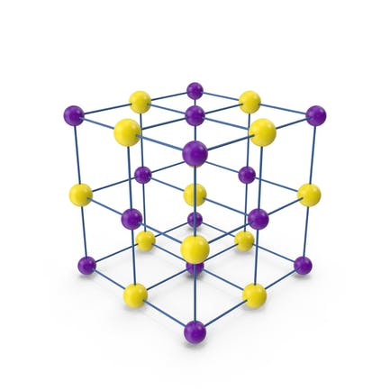 Estructura de celosía cúbica de cristal de sal