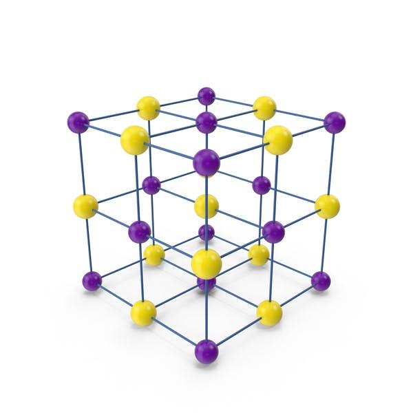 Salt Crystal Cubic Lattice Structure
