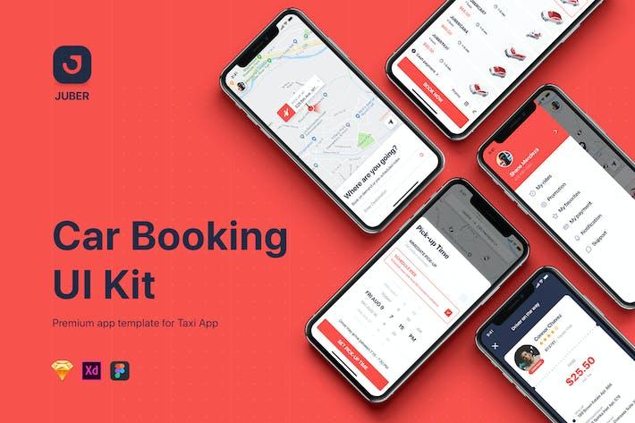 Thumbnail for JUBER - Car booking UI Kit