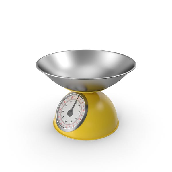Mechanical Kitchen Scale Yellow
